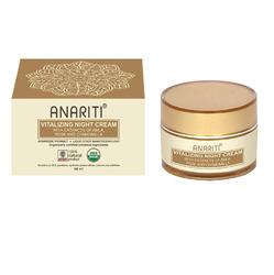 Anariti Night Cream Vitalizing - Крем ночной Восстанавливающий Для лица и шеи c экстрактами амлы, розы и ромашки 50 мл