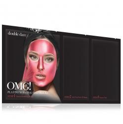 Double Dare OMG! Platinum Hot Pink Facial Mask Kit - Маска трехкомпонентная для ухода за кожей лица розовая