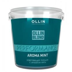 Ollin Professional Performance Blond Powder With Mint Aroma - Осветляющий порошок с ароматом мяты 500 г