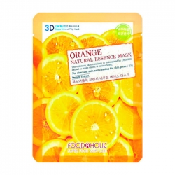 FoodaHolic Orange Gram Natural Essence 3D Mask - Тканевая 3Д маска для лица с натуральным экстрактом апельсина, 23г