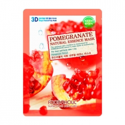 FoodaHolic Pomegranate Natural Essence 3D Mask - Тканевая 3Д маска для лица с натуральным экстрактом граната, 23г