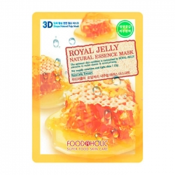 FoodaHolic Royal Jelly Essence 3D Mask - Тканевая 3Д маска для лица с экстрактом пчелиного маточного молочка, 23г