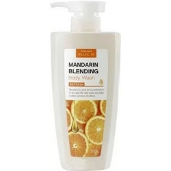 Welcos Around me Mandarin Blending Body Wash - Гель для душа с экстрактом мандарина и маслом кожуры мандарина, 500 мл