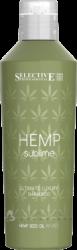 Selective Hemp Sublime Ultimate Luxury Shampoo - Шампунь увлажняющий для сухих и поврежденных волос с маслом семян конопли, 250мл