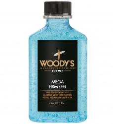 Woody's Mega Firm Gel - Гель для волос сверх сильной фиксации, 75 мл