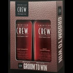 American Crew - Набор Daily Moisturizing Shampoo 250 мл + Firm Hold Gel 250 мл