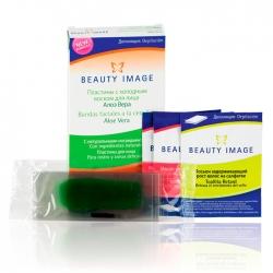 Beauty Image - Набор для лица Алое Вера (24 односторонних пластины +2 салфетки цветочным маслом)