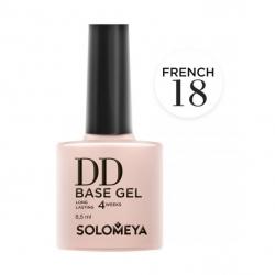 Solomeya DD Base Gel French 18 - Камуфлирующая основа 2 в 1 для классического и французского маникюра French 18, 8мл