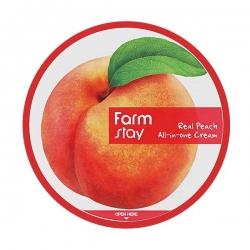 FarmStay Real Peach All-in-one Cream -  Крем многофункциональный с экстрактом персика, 300 мл