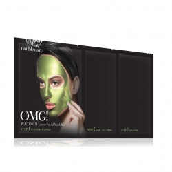 Double Dare OMG! Platinum Green Facial Mask Kit - Маска трехкомпонентная для ухода за кожей лица зеленая