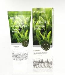 3W Clinic Green Tea Foam Cleansing - Пенка для умывания ЗЕЛЕНЫЙ ЧАЙ/НАТУРАЛЬНАЯ, 100 мл
