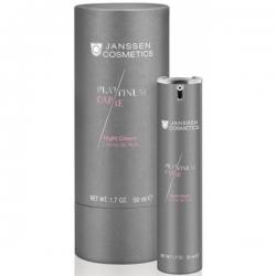 Janssen Platinum Care Night Cream - Реструктурирующий ночной крем с пептидами и коллоидной платиной 50мл