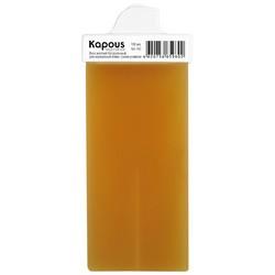 Kapous Depilations - Воск жирорастворимый Желтый Натуральный, с узким роликом, 100 мл
