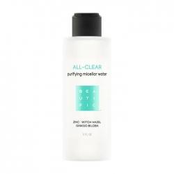 Beautific All-Clear Purifying Micellar Water - Мицеллярная вода для очищения кожи лица с себорегулирующей формулой, 150 мл
