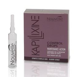 Nouvelle Control Drops - Лосьон для для стимулирования роста волос с экстрактом черники, 10×10 мл