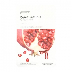 The Face Shop Real Nature Pomegranate Face Mask - Тканевая маска для лица с экстрактом граната, 20 мл