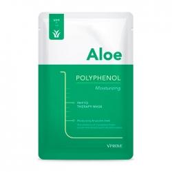 Vprove Phyto Therapy Mask Sheet Aloe Polyphenol Moisturizing - Тканевая маска противовоспалительная с экстрактом алоэ, 20 мл