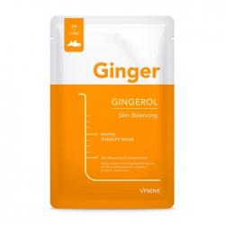 Vprove Phyto Therapy Mask Sheet Gingerol Skin Balancing - Тканевая маска Укрепляющая с экстрактом имбиря, 20 мл