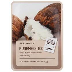 Tony Moly Sheet gel mask Pureness 100 Shea Butter - Маска тканевая с экстрактом масла ши, 21 мл